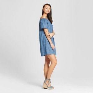 Merona Off The Shoulder Chambray Dress